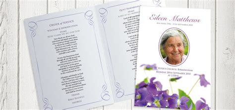 Funeral Service Cards Designs