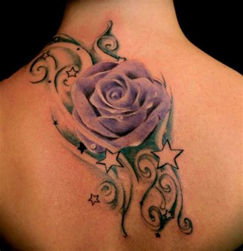 purple rose shoulder tattoo 33 awesome purple tattoos images pictures and ideas