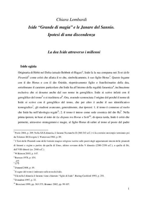 (PDF) Iside Grande di Magia e le Janare del Sannio