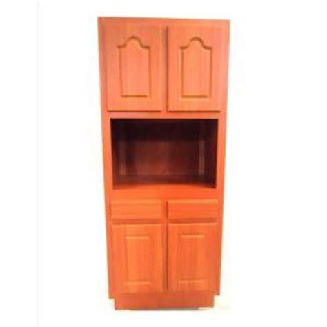 metalarte 30 in laminate cherry microwave pantry cabinet