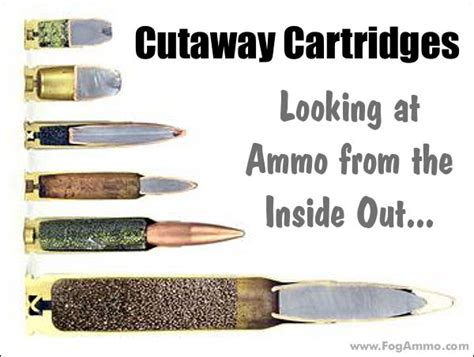 Cartridge Bullet Poster Diagrams Ammo Special Cartridge Cutaways From Fog Ammunition