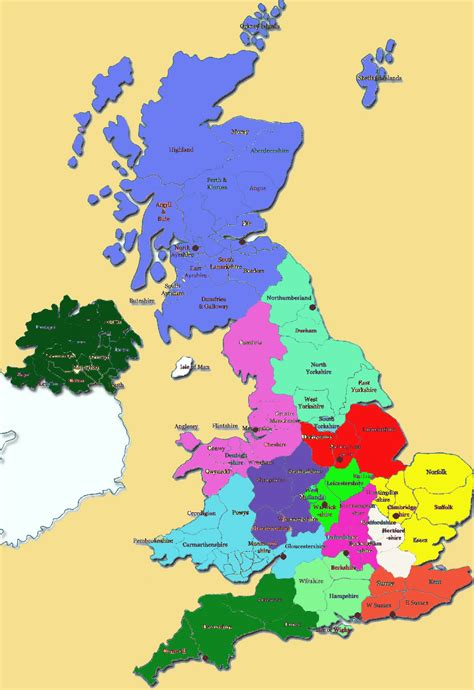 map of ta area regions map uk