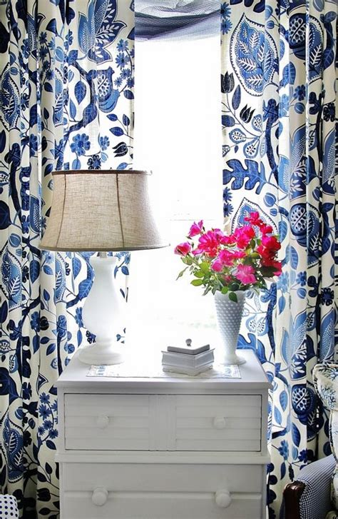 25 best ideas about blue and white curtains on