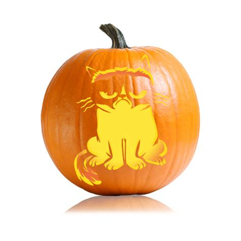 cat pumpkin template grumpy cat pumpkin pattern ultimate pumpkin stencils
