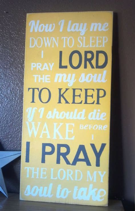 prayer to say before bed now i lay me down to sleep childrens bedtime prayer sign