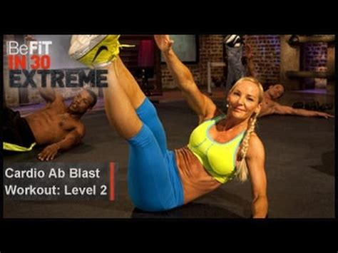 cardio ab blast workout level 2 befit in 30