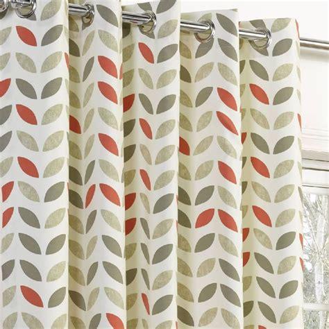 leaf print curtains neo geometric modern leaf print lined eyelet curtains