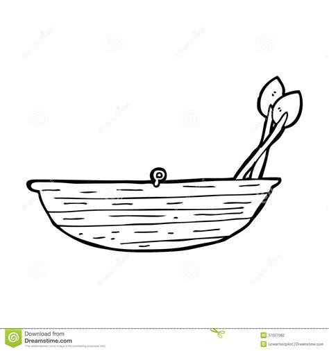 boat cartoon black and white cartoon rowing boat stock photography image 37027082