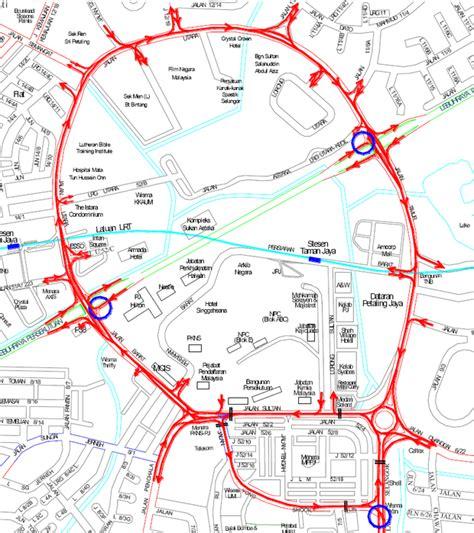 petaling jaya map calendata petaling jaya one way traffic loop