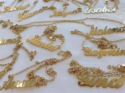 cadenas con nombres personalizados cadenas nombres personalizados en acero bisuteria mujer