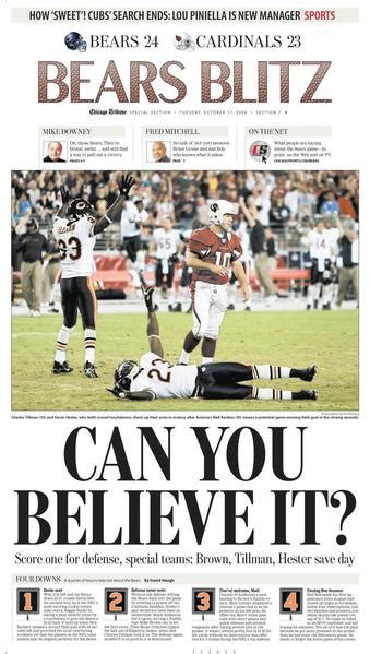 chicago tribune sports section the bears are who we thought they were an oral history