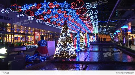 christmas lights in japan stock video footage 1057555