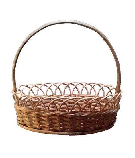 Handcrafted Baskets - craftedwood handcrafted wooden bamboo flower basket buy