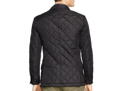 Mens Quilted Sport Coat by Ralph Polo Quilted Sport Coat In Black For Lyst
