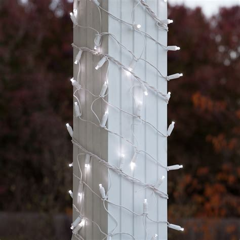 christmas column wraps led net lights 6 quot x 15 led column wrap lights 150 cool white ls white wire