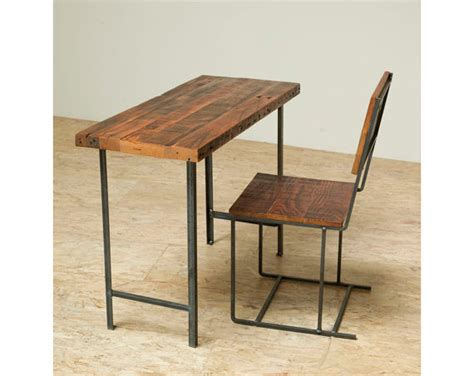 Repurposed Wood Desk by Compact Desk Or Console Table Reclaimed Wood And Iron