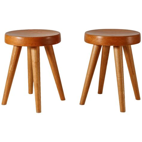 perriand pair of four legged stools