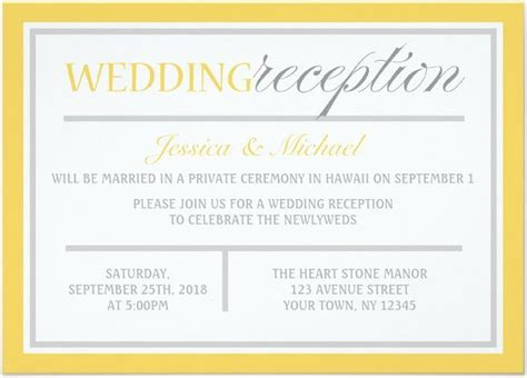 wedding reception invitations templates 21 beautiful at home wedding reception invitations