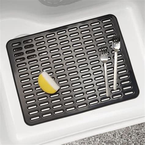 interdesign syncware kitchen sink protector mat large