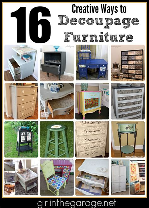 decoupage collage ideas 16 creative ways to decoupage furniture in the garage 174