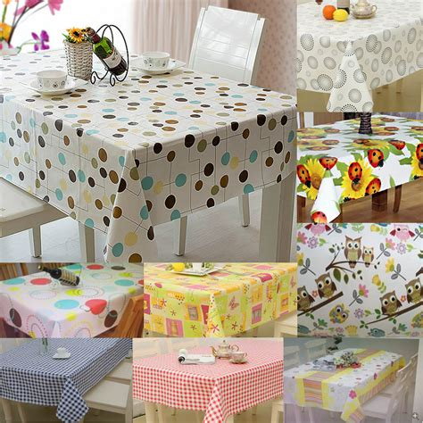 kitchen cover sheet large wipe clean pvc vinyl tablecloth dining kitchen
