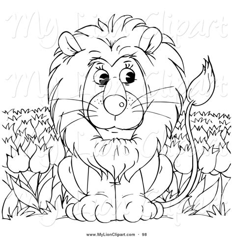 Royalty Free Stock Lion Designs Of Outlines Free Outline Pictures For Coloring