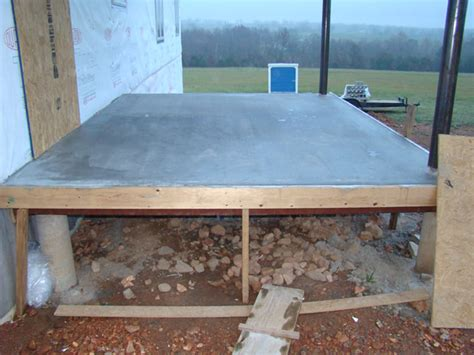 How To Build A Raised Concrete Porch elevated concrete deck plans 187 design and ideas