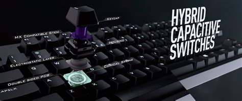 Switch Keyboard hybrid capacitive switch cm cooler master