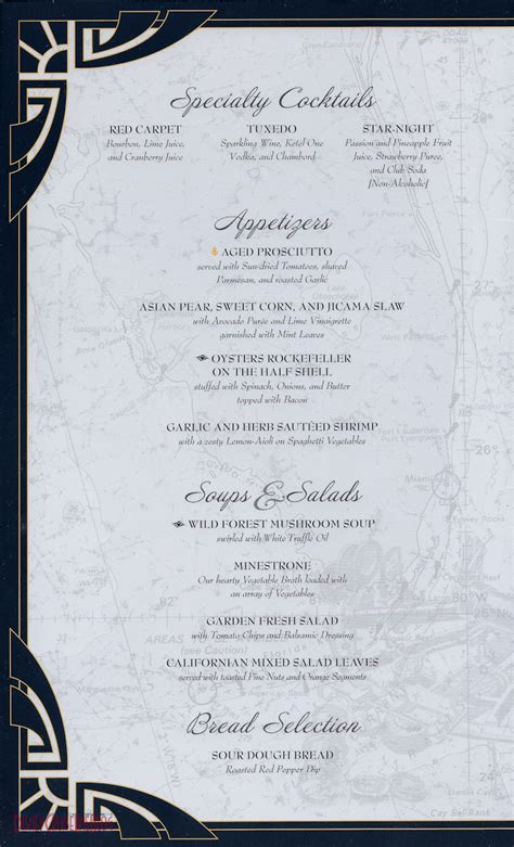 formal dinner menu ideas disney dock scheduled for late january 2014 invitations ideas