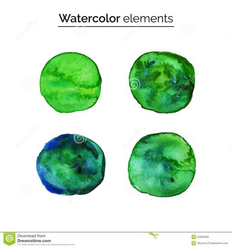 design elements watercolor green watercolor design elements set isolated watercolor