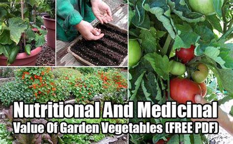 Nutritional And Medicinal Value Of Garden Vegetables Free Vegetable Gardening Pdf