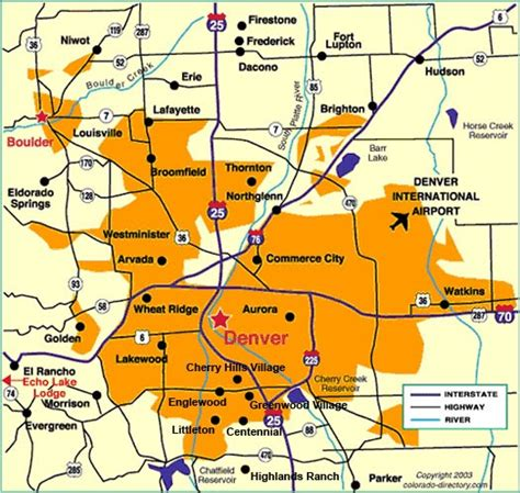Detox Units Denver Metro Area by Maps Of Dallas Denver Map