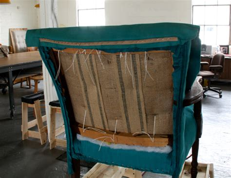 How To Upholster A Chair How To Upholster A Chair Attaching The Outside Back