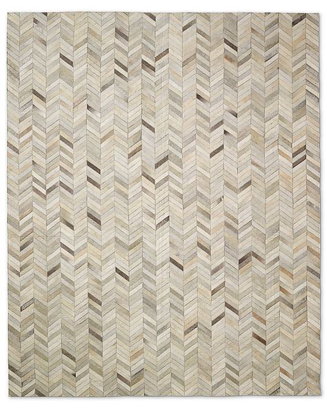 Restoration Hardware Outdoor Rugs Chevron Cowhide Rug Sand