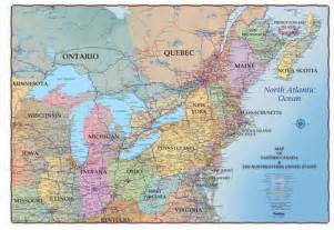 map of northeast us and canada northeastern usa and southeastern canada 36 quot x 48