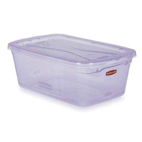 shoe box storage containers shop rubbermaid clever store 6 quart shoe box with
