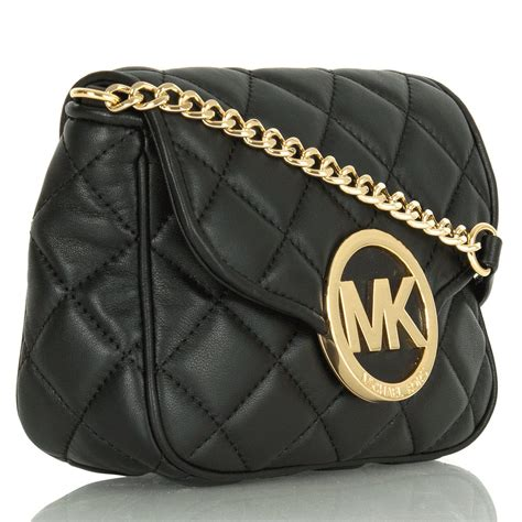 Quilted Cross Bag by Michael Kors Black Small Fulton Quilted Cross Bag