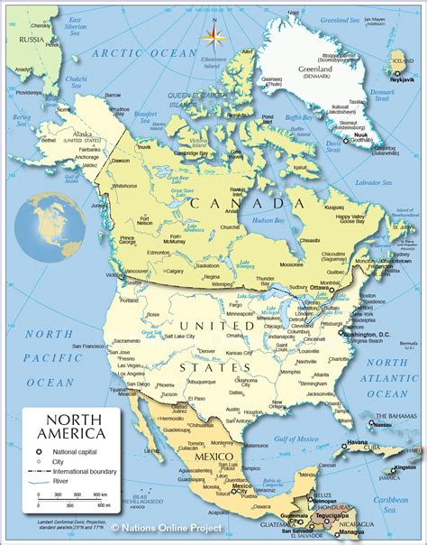 america map showing countries political map of america 1200 px nations
