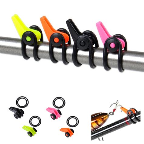 Hook Keeper 5pcs bag plastic fishing rod pole hook keeper for lures