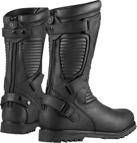 mens black motorcycle riding boots mens icon 1000 waterproof leather prep motorcycle riding