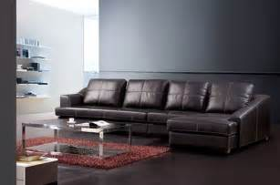 Leather Sofas Aberdeen Exquisite Genuine Leather Sectional Contemporary