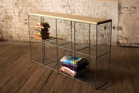 cubby console  wooden top