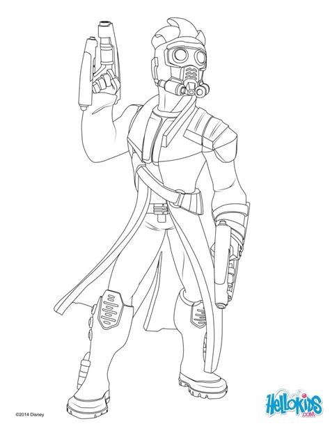 star lord coloring page free printable coloring pages guardians of the galaxy 2015