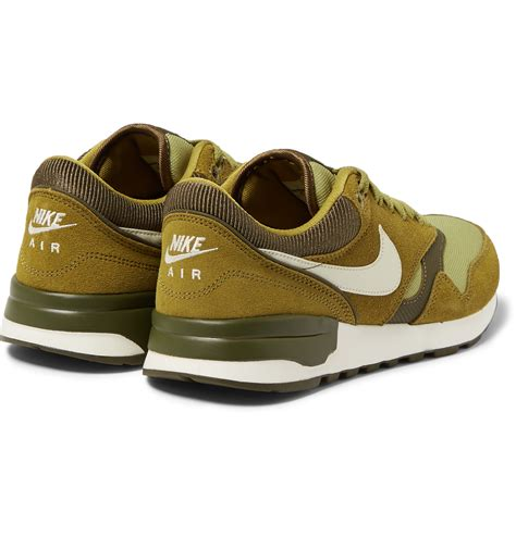 green sneakers nike nike air odyssey suede and mesh sneakers in green for