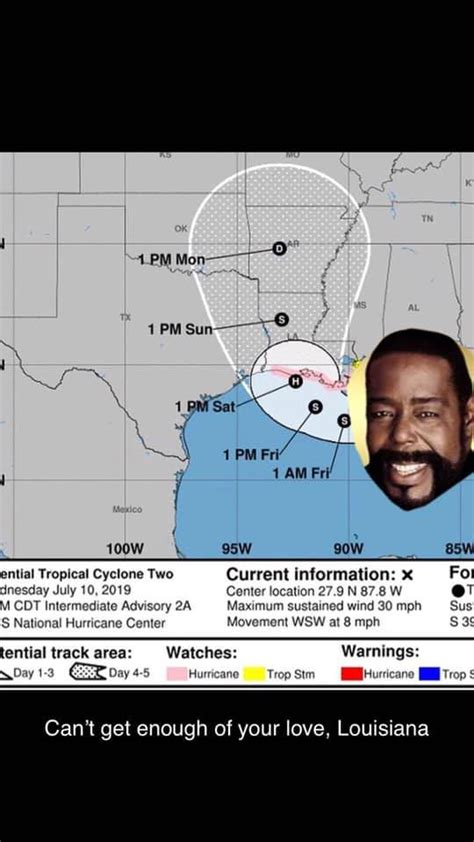 hurricane barry memes sunny