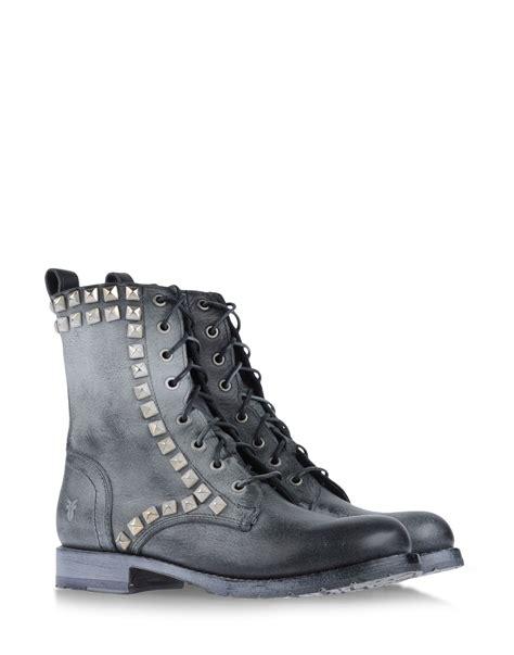 frye ankle boots frye ankle boots in gray steel grey lyst