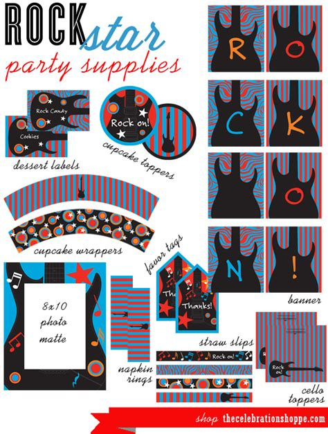 free printable rockstar party decorations rock star party supplies the celebration shoppe