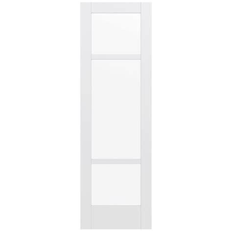 Jeld Wen 32 In X 96 In Moda Primed White 3 Lite Solid White Glass Panel Interior Door