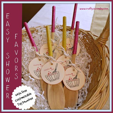 Handmade Bridal Shower Favors - crafty in crosby bridal shower favors mix it with