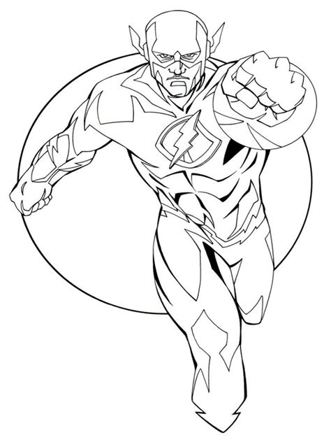 91 the flash coloring pages with kid the flash